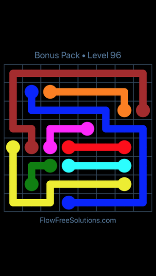 Solution and Answer to the Puzzle for Flow Free Bonus Pack Level 6