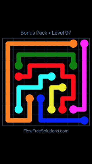 Solution and Answer to the Puzzle for Flow Free Bonus Pack Level 7