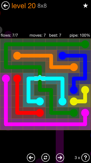Previous Level Solution And Answer To The Puzzle For Flow Bridges Pack Set X