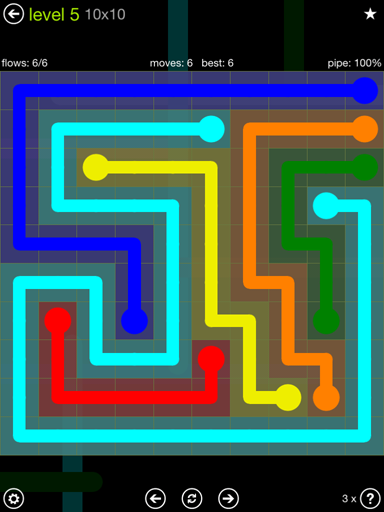flow free extreme pack 10x10 level 5