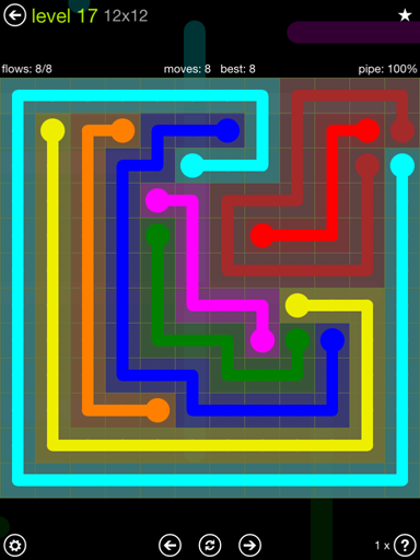 Solution and Answer to the Puzzle for Flow Extreme Pack Set 12x12 Level 17