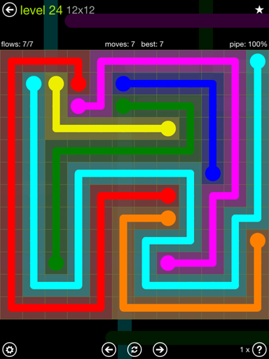 Solution and Answer to the Puzzle for Flow Extreme Pack Set 12x12 Level 24