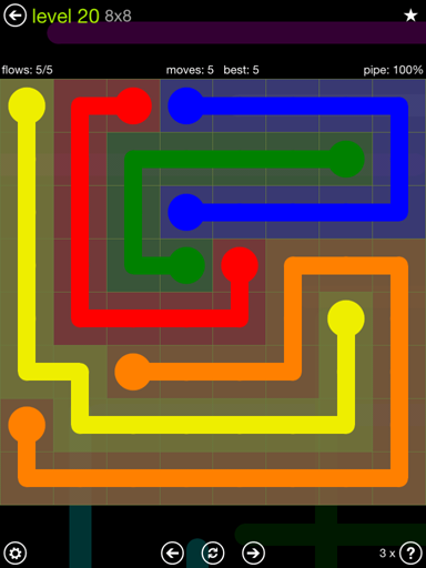 Previous Level Solution And Answer To The Puzzle For Flow Extreme Pack Set X