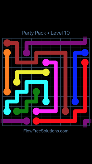 Flow Free Party Pack Level 10 Puzzle Solution And Answer Flow Free