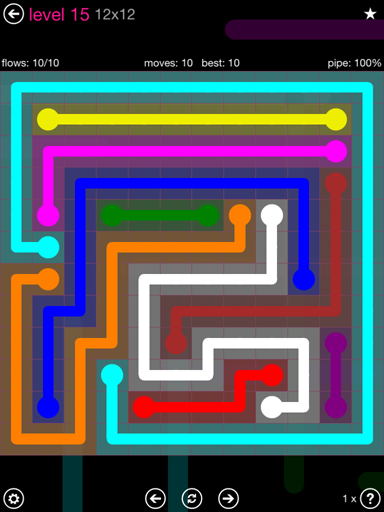 Solution and Answer to the Puzzle for Flow Pink Pack Set 12x12 Level 15