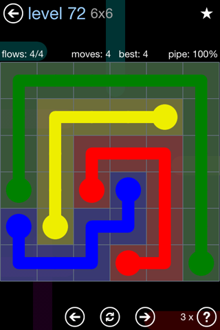 Solution and Answer to the Puzzle for Flow Rainbow Pack Set 5x5 Level 72