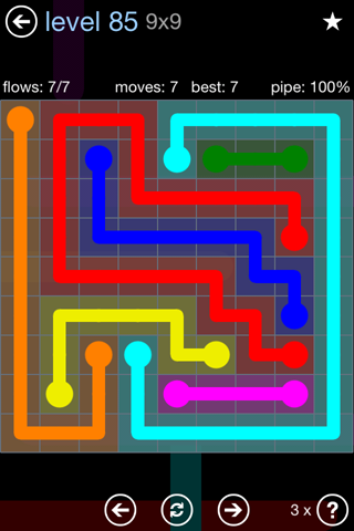 Solution and Answer to the Puzzle for Flow Rainbow Pack Set 5x5 Level 85